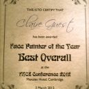 Face Painter of the Year 2012 (FACE CONFERENCE)