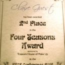 Runner Up Four Seasons Award (FACE Conference 2012)