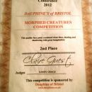 Runner Up Morphed Creatures Award 2012 (FACE CONFERENCE) Sponsored by Dauphines of Bristol